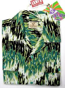 Levi's LVC Levis Vintage Clothing Spread Collar Shirt 1960's Cotton Linen Levi