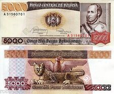 BOLIVIA 5000 Bolivianos Banknote World Paper Money UNC Currency Pick p-168 Bill
