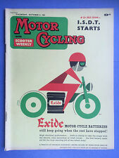 Motor Cycling avec scooter hebdomadaire - oct 5,1961 - Doug HELE de Norton