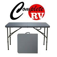 Grey 120cm Portable New Outdoor Camping Table Folding Picnic Rv Caravan Compact