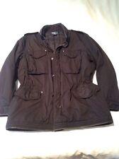 Ralph Lauren Militar Abrigo número especial XL Negro