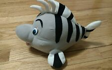 GREY Flounder Plush The Little Mermaid Stuffed Animal Doll Toy Black White