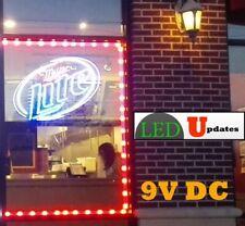 9V Red Storefront LED LIGHT retail Bar Counter 40ft + UL Listed 9v 45W Power