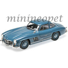 MINICHAMPS 180039007 1954 54 MERCEDES BENZ 300 SL GULLWING W198 I 1/18 BLUE