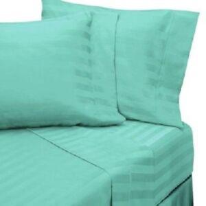 Split Sheet Set Extra Deep Pkt Striped All Color & Sizes 1000TC Egyptian Cotton