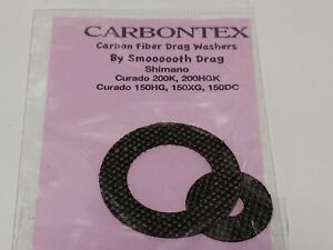 1 Set Carbontex Drag Washers Fits Shimano Curado 150 - 200 K, HGK, HG, XG, DC