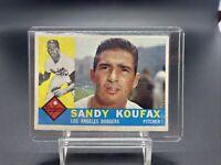 SANDY KOUFAX 1960 TOPPS #343 LOS ANGELES DODGERS