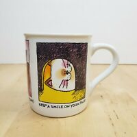 Hallmark Mug Mates Cartoon Kitty Cat Coffee Mug Tea Cup Made in Japan