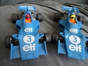 SCALEXTRIC 2 YES 2 C121 TYRRELL-FORD ELF 007 F1 CARS BLUE No3 VGC SPOILERS FINE