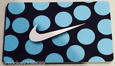 Nike CANADA BLUE POLKA DOT SWOOSH Logo Collectors gift card English/French