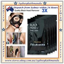 3X PILATEN BLACKHEAD REMOVER Face Mask Pore Cleansing Black Heads Strip Nose NEW