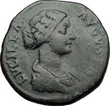 LUCILLA Lucius Verus Wife Marcus Aurelius Daughter SESTERTIUS Roman Coin i58674