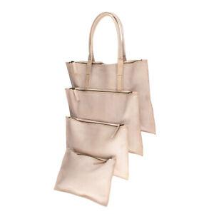 RRP €1200 CHEREVICHKIOTVICHKI Leather Tote Bag Large Triple Front Pockets Zipped