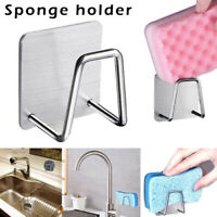 Stainless Steel Sink Sponge Soap Holder Kitchen Bathroom Drain Storage Rack