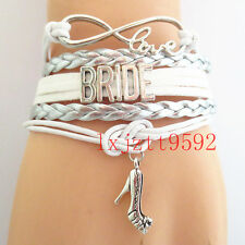 Hot Infinity Love bracelet BRIDE Bracelets silver white wedding gifts Friendship