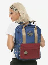 DC Comics Wonder Woman double-handle backpack school book bag official licensed