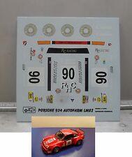 DECALS  PORSCHE 934  AUTOFARM LE MANS 1982  MODEL  1/43