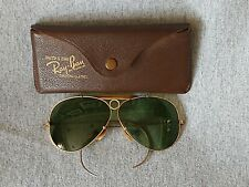 Vintage 1930's B&L Ray-Ban Aviator 12K Gold Filled Shooting Glasses