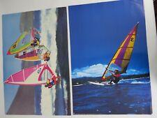 art print poster lithograph Wind Surfing Surfer wave team photograph beach sport