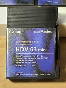 Canon HDV 63 Minute HDVM-E63PR Videocassette For XH A1 NEW!