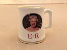 E II R Queen Elizabeth Royal 70th Birthday  MINI Mug GOLD TRIM -RARE