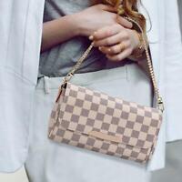 Fashion Luxury Women's Bag Chain Plaid Designer Shoulder Pu Messenger Bag