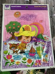 VTG Whitman 1973 Small Sailor Cute Frame Tray Puzzle