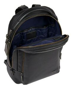 Tumi Harrison Cooper Backpack - Black Leather Pebbled $$595