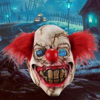 INTÉGRAL Masque Latex Clown Effrayant Halloween Costume Démon Sinistre adulte