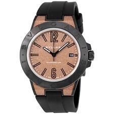 Bvlgari Diagono Magnesium Automatic Brown Dial Mens Watch 102306