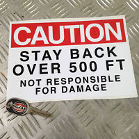 ghostbusters ecto 1 warning sticker 210mm x 148mm ecto 1 prop