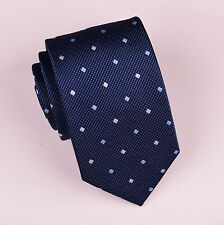 "Mens Blue Navy Diamond 3.15"" Classic Tie 8cm Necktie Traditional Geometric Check"