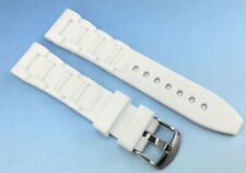 Sculpted WHITE Silicone Rubber WATCH Band STRAP 22mm