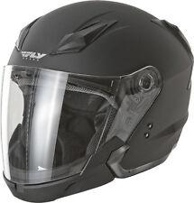 FLY Street TOURIST Helmet Flat Matte BLACK LARGE Motorcycle 73-8101L NEW