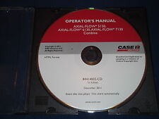CASE 5130 6130 7130 AXIAL FLOW COMBINE OPERATION & MAINTENANCE BOOK MANUAL CD