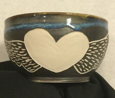 "Handmade Pottery Bowl Signed Moze 5"" Diameter x 3"" Tall"