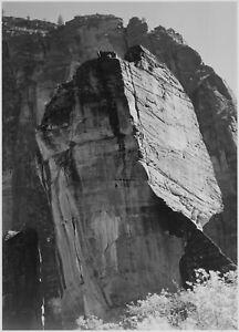 "Ansel Adams - Rock Formation Zion National Park Utah (1941) -17"" x 22"" Art Print"