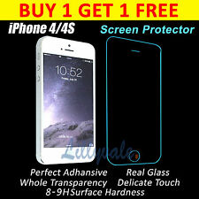 Genuine Tempered Glass Film Screen Protector for Apple iPhone 4S & 4