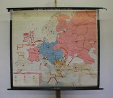 Schulwandkarte Europakarte 146x131cm Kaiserreich nach Bismarck 1968 vintage map