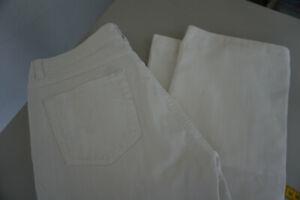 Angels Femmes Jeans Bootcut Pantalon Stretch 32/30 W32 L30 Délavé Blanc Top P7