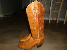VTG ACME Cowboy Boots 6.5 C wide Womens WESTERN Tall TULIP Rodeo Rockabilly USA