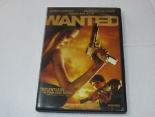 Wanted DVD 2008 Widescreen Rated-R James McAvoy Morgan Freeman Angelina Jolie
