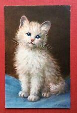 CPSM. Illustrateur A. LAMPE. Petit Chat aux yeux bleus. 1938 ?