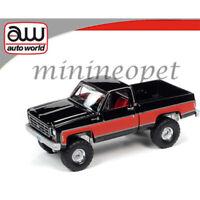AUTOWORLD AWSP044 A 1978 CHEVROLET K10 SILVERADO FLEETSIDE 1/64 RED / BLACK