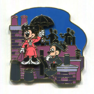 """Disney Pin """"Mary Poppins"""" Mickey Mouse Minnie (Slides) Great Movie Ride Moments"""