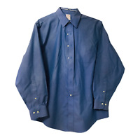 Brooks Brothers 346 Mens Large 16.5 4/5 Blue Long Sleeve Button Down Shirt
