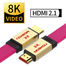 Moshou HDMI 2.1 Cable 8K 60Hz 4K@120Hz 48Gbps 4320P UHD Ultra High Speed 10K HDR