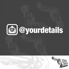 Email address - sticker - 2x vinyl stickers 20cm wide