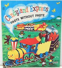 Candyland Express Paste without Paste Book c1950-60s ~ Unused