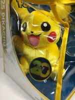 Waving Pikachu 025 Pokemon Plush 20th Anniversary Nintendo Tomy 053941187354
